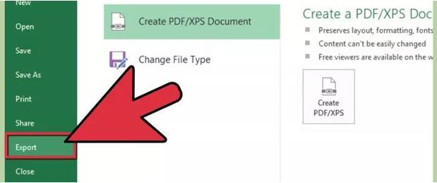 Create PDF from xls