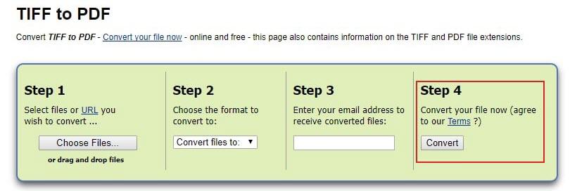 online tiff to pdf converter