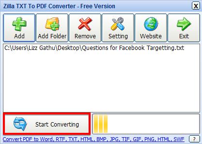 convert txt to pdf